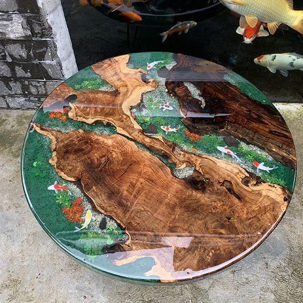 Mặt bàn Epoxy Resin đẹp mắt làm bàn trà